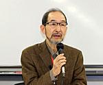 脱原発学習会 講師の井野博満さん