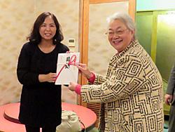 大竹代表(右)と中村副理事長(左)
