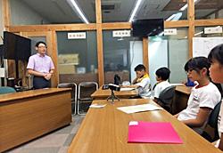 小国町役場で報告会
